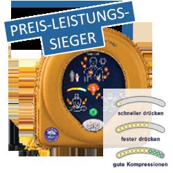 """<b>SAM500P Reanimations-Defibrillator mit manueller Schockauslösung und zusätzlicher Kontrolle mit Echtzeitanweisungen zur Herzdruckmassage</b><br> DETAILS:0,99 pro Tag, monatlich 29,70 EUR/netto<br><a href=""""/wp-content/uploads/2020/02/0-AED-HS-SAM500P.pdf"""" target=""""_blank"""">Weitere Informationen</a>"""